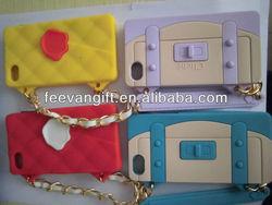 silicone purse case silicone handbag design case for iphone 4