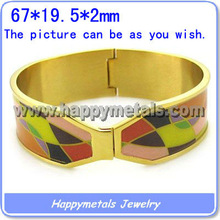 2013 wholesale gold bangle models jewelry made in 316L stainless steel B7706-1