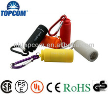 Keychain Rechargeable LED Flashlight with built in USB