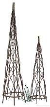 willow obelisks for gardening