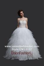 Romantic modern lace wedding dress elegance sweetheart plus size puffy princess ball gown wedding dress
