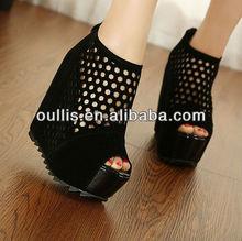 shoes women summer beautiful flip flops wedge heels PQ2298