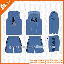 Top band v-neck comfortable basketball wear/uniform custom