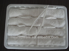 Disposable Nonwoven hand towel for Airline with tong and tray