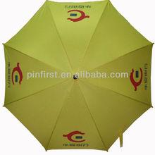 Yellow Windproof Folding Automatic Umbrella for Rain