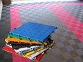 polímero transparente piso de vinil para o tênis