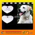 Sublimazione vuoto di alta qualitàin metallo tag cane, metallo placcato bianco cane tag