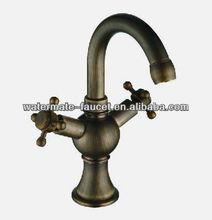 double handle antique brass copper basin faucet tap
