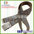 Moda 2013 regalos personalizados de alta calidad de poliéster correa, la pantalla de sedaimpresión de cintura para los hombres o las mujeres