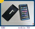 ucuz TPU Siyahiç Mat cep telefonu kılıfı Nokia N9için