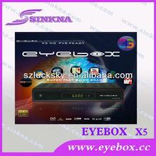 EYEBOX X5 HD Factory Sunplus 1512 sat receiver support IPTV 3G WIFI Antenna Internet VOD Youtube