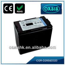 Digital traveler camcorder Battery for Panasonic D28S / D320
