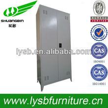 Indian 2 door white metal bedroom cupboards design with stand foot