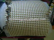 Crystal rhinestone trimming mesh wedding dress accessory