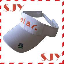 100% Cotton print logo solar fan sun visor summer caps