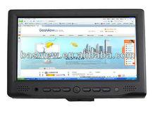 "Customization 7 Inch Black LCD HDMI Touch Screen Car Monitor Fanless Mini Computer Monitor 7"" HDMI Monitor"
