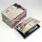Ancient Pattern Leather case for ipad mini/European Building Leather Case for ipad mini Tablet PC