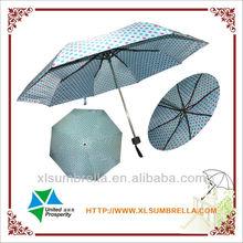 8ribs and fiberglass ribs 3fold umbrella with dot