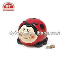 Adorable Plastic Ladybug Piggy Bank Great Gift ICTI Toy Factory