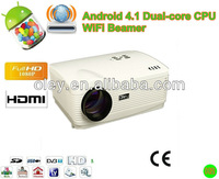 wireless led Android 4.0 WIFI Portable Proyector Beamer 1280*800 Full HD Smart LED Multimedia Video Game Projectors for home