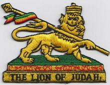 custom iron on lion of patch