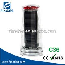 C36 Ni-Cd 4v red blinking solar panel car battery flashlight blink