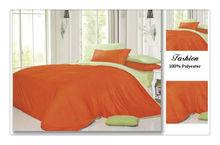 4pcs 100% Polyester Hotel Bedding Set 110-120g Plain Color Double Sides Queen Quilt Bedding