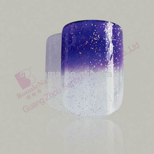 purple gradual change stamping nail art product