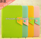 High Quality Fashion Assorted Color Leather case for ipad mini/ Leather Case for ipad mini Tablet PC