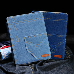 newest fashion Jeans style leather case for ipad 2/3