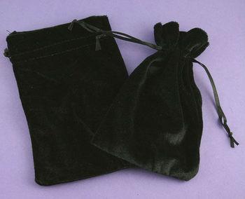 customized black velvet gift bags pouch