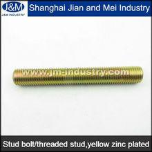Yellow Zinc ASTM A193 Esparrago B7