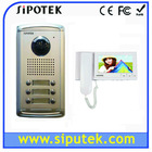 7 inch color 4-wire outdoor intercom systems for apartment