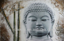 Indian buddha oil paintings on canvas