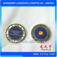 Antique metal fashion souvenir coins with engraving wording
