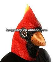 Realistic Red Bird Head Latex Mask Costume animal mask