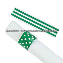 Green Stripes & Polka Dots Reversible Napkin Rings Wedding Decoration Bridal Shower Party Favor