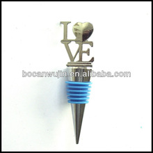 colours wine bottle stopper with cork