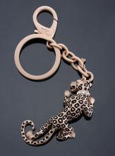 vivid metal leopard key chain,man keychain,game keyring