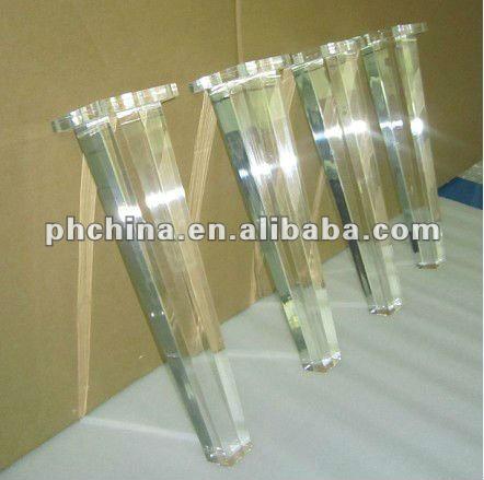 rd 195 lucite bench leg acrylic bench leg plexiglass sofa bench leg clear table leg crystal. Black Bedroom Furniture Sets. Home Design Ideas