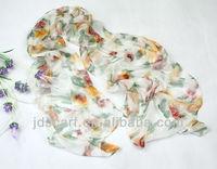 silk scarves for dyeing JDS-074# excellent scarves super thin 100% silk scarves for dyeing