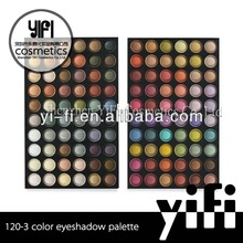 Professional 120-3 eyeshadow makeup palette yellow eye shadow