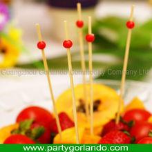 Desechable decoración del partido bamboo selecciones de alimentos decoración 120 mm