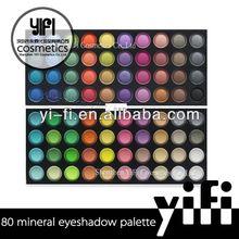 Wholesale!80 color eyeshadow palette yellow eye shadow