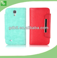luxury flip PU leather case for Samsung Galaxy S4 i9500