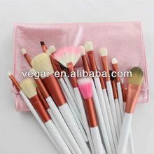 Pro pink 20 pcs makeup brush Case acrylic handle makeup brush