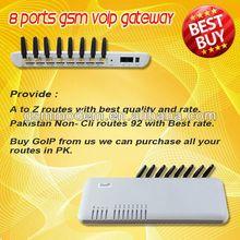 8ports gateway! voip gateway support IMEI change sim box,sim server/wireless communication equipment