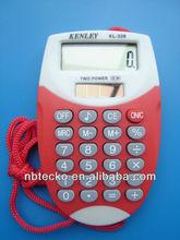 mini plastic pocket calculator with lanyard