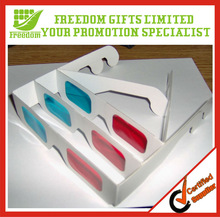Advertising Top Quality Logo Printed Cheap Paper 3D Glasses