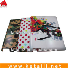 for ipad 2/3/4 hard cover , colorful print glossy surface (FDA,BV ISO 9001 report )
